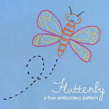 flutterby a free butterfly embroidery pattern shiny happy world