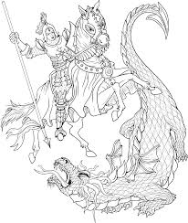 st george u0026 the dragon coloring page