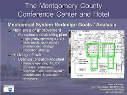 plant layout of hotel the montgomery county conference center and hotel 5701 marinelli