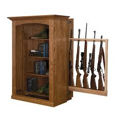 Amish Bookshelves by Small Bookcase With Hidden Gun Cabinet From Dutchcrafters Amish