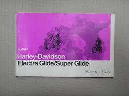harley davidson 1972 electra glide super glide 1200 genuine owners