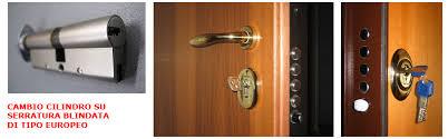 cambiare la serratura della porta blindata serratura europea