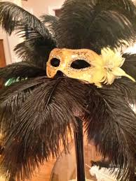 Where To Buy Ostrich Feathers For Centerpieces by Mardi Gras Masquerade Ostrich Feather Centerpiece