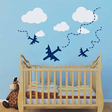 3d airplane wall art 3d flying butterflies wall sticker for wall sale modern decoration wall art decal plane airplane air fly clouds room decor sticker for nursery
