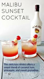 Southern Comfort And Pineapple Juice Coral Reef Cocktail Recipe Malibu Rum Coral Reefs And Rum