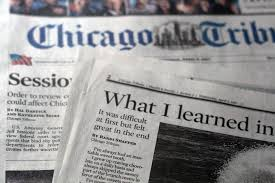 Chicago Tribune News Desk My First Tribune Byline Randi With An I