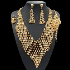 jewelry lady necklace images Free shipping latest design saudi gold jewelry necklace premier jpg