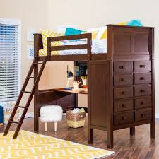 Double Deck Bed Designs With Drawer Kenai Loft Bed With Dresser Epoch Design