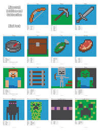 minecraft addition and subtraction coloring squared