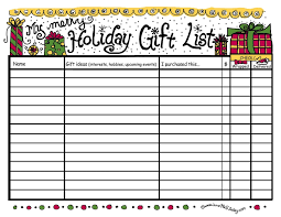 gift shopping list christmas gift list ideas or by christmas gift ideas