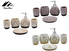 Damask Bathroom Accessories Wood Bathroom Accessories Ebay