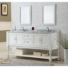 Dual Vanity Sink Direct Vanity Sink 70 Inch Pearl White Mission Turnleg Double