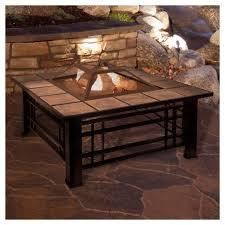 target fire pit table fire pit set wood burning pit 32 square tile pure garden target