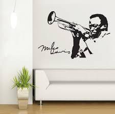 online get cheap music wall murals aliexpress com alibaba group man playing saxophone silhouette wall mural music series art design wall decals home bedroom musical decoration wall poster wm 7