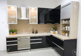 modern kitchen interiors the modern kitchen interior design photo stock picture and cabinets