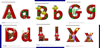 themed letters christmas themed display lettering sb1884 sparklebox kerst