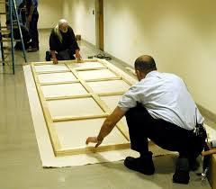 on site canvas stretching stretch large paintings or canvases