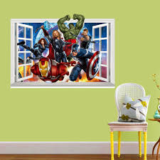 3d marvel s the avengers wall sticker baby kids room cartoon 3d marvel s the avengers wall sticker baby kids room cartoon decals home decor wallpaper poster home decoration nursery art in wall stickers from home