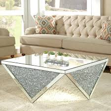 living spaces side tables mirrored coffee tables to upgrade your living space mirrored coffee