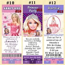 Barbie Birthday Invitation Cards Srprintingservice Barbie Invitation 1 Listing