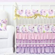 Dahlia Nursery Bedding Set Solid Purple Crib Bedding Sets Suitable With Purple Owl Crib
