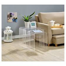 acrylic nesting tables target acrylic nesting tables set of 3 fox hill trading target