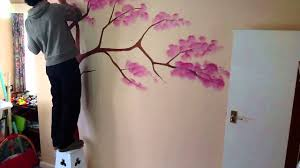 wall tree painting time lapse