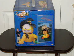 image nib nos gemmy 6 u0027 garfield halloween witch airblown