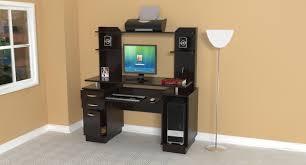 Espresso Computer Desk With Hutch by Inval Computer Workcenter With Hutch In Espresso Cc 4301