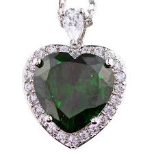 heart shaped emerald necklace images 46 best birth month stone necklace images birth jpg