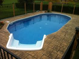 freedom above ground pool installed completely inground with