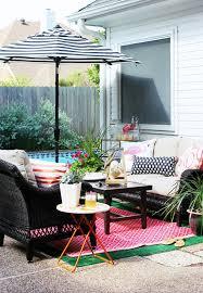 Design For Striped Patio Umbrella Ideas Black And White Striped Outdoor Patio Umbrella Probably
