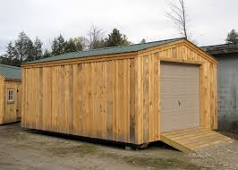 Overhead Shed Doors 14x20 Shed Post And Beam Garage Kits Jamaica Cottage Shop