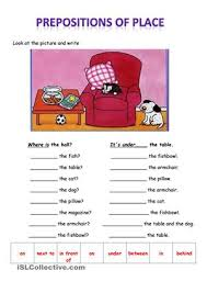 collection of solutions preposition of place exercises worksheets