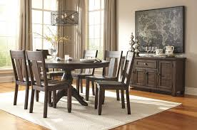 dark brown round kitchen table solid wood pine round dining room pedestal extension table by