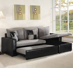 black convertible sofa furniture black leather convertible sofa with chaise and storage