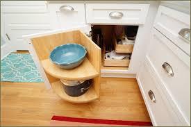 Corner Cabinet In Kitchen Decorating Amusing Blind Corner Cabinet In Wooden Storage Ideas