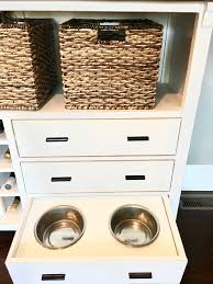 in style home decor diy dog bowl storage
