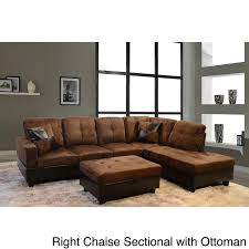 Sofa With Ottoman by Best 20 Brown Sectional Sofa Ideas On Pinterest Brown Sectional
