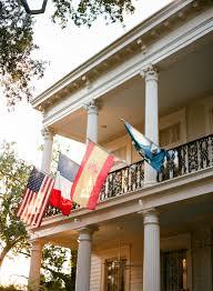 New Orleans Flag The Elms Mansion New Orleans Wedding Photographers Christine
