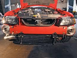 ford mustang v6 turbo turbonetics hellraiser turbo kit for ford mustang 1996 2004 4 6l