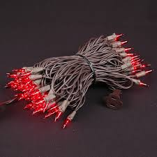 brown cord mini lights red christmas mini lights set 100 light brown wire 50 feet novelty