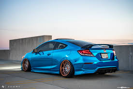 custom honda civic si exciting makeover of blue honda civic si with fashionable