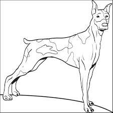 Coloring Page Of A Big Dog   big dog coloring pages luva us