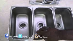 Compartment DropIn Kitchen Sink YouTube - Three compartment kitchen sink