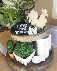 yes decorating tiered stands trays baskets vignettes