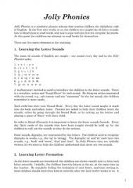 what is jolly phonics jolly learning jolly learning
