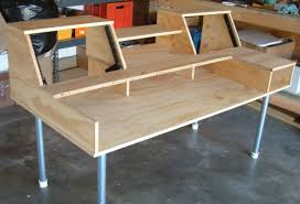 Diy Studio Desk Wooden Project And Ideas Cool Diy Studio Desk Plans