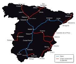 Alicante Spain Map by Spain Madrid Barcelona Train Rail Maps