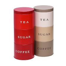Kitchen Storage Canister Stacking Stackable Tea Coffee Sugar Food Kitchen Storage Canister